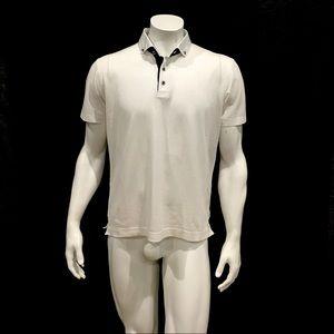 Robert Graham Men's White Polo Shirt